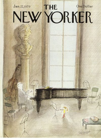 Jean-Jacques Sempé : Cover art for The New Yorker 2814 - 22 January 1979