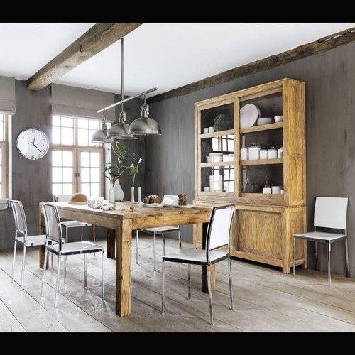 Tavolo per sala da pranzo in massello di legno di sheesham L 200 cm