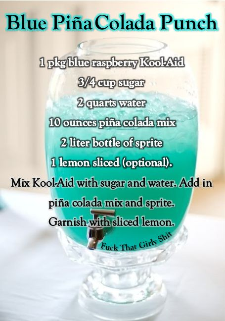 Baby Shower Drinks Non Alcoholic ~ Follow our quot drinks for a buzz board gt blue pina