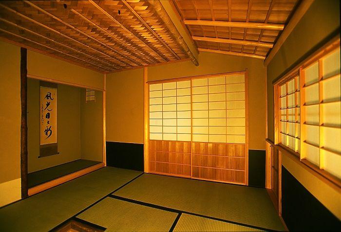 tea ceremony room. Kyoto Japan 茶室 内部
