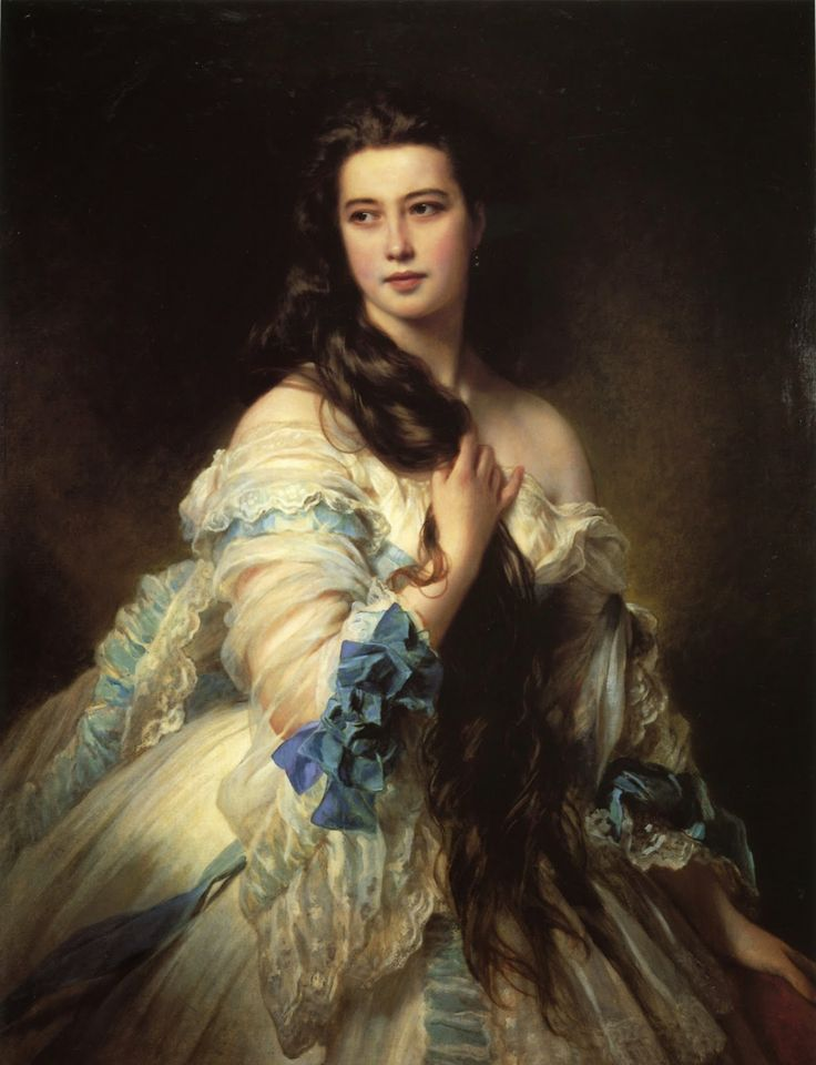 Franz Xavier Winterhalter: Portrait of Madame Barbe de Rimsky Korsakov (1864) Musee d'Orsay