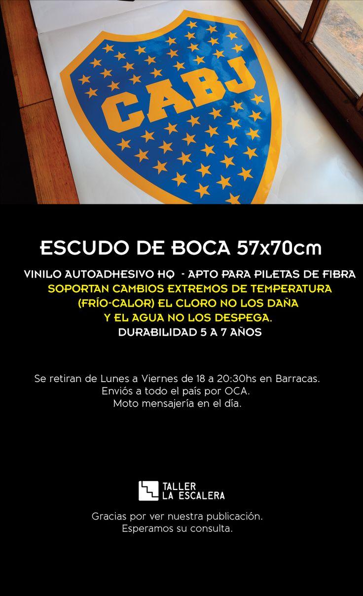 Escudo De Boca Vinilo Autoadhesivo Hq 57x70cm El Mejor!!! - $ 800,00