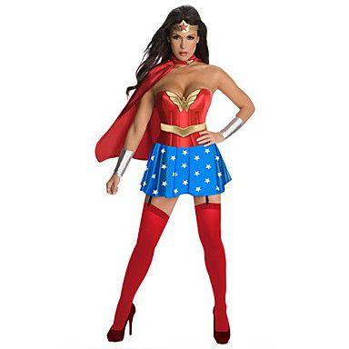 superman sexy supergirl volwassen vrouwen Halloween kostuum (gratis grootte) - EUR € 18.17