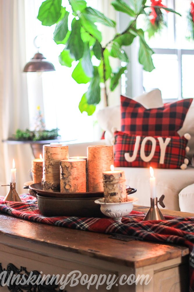 Candles In Copper Bucket On Coffee Table Want A Warm And Rustic Vibe For  Your Christmas Decor This Year? Take A Beautiful Holiu2026 | + Easy Holiday  Ideas In ...