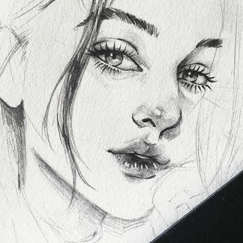 drawing pencil drawings portrait face draw sketch sketches easy aesthetic some happy simple painting anime faces arte human zeichnen portraits