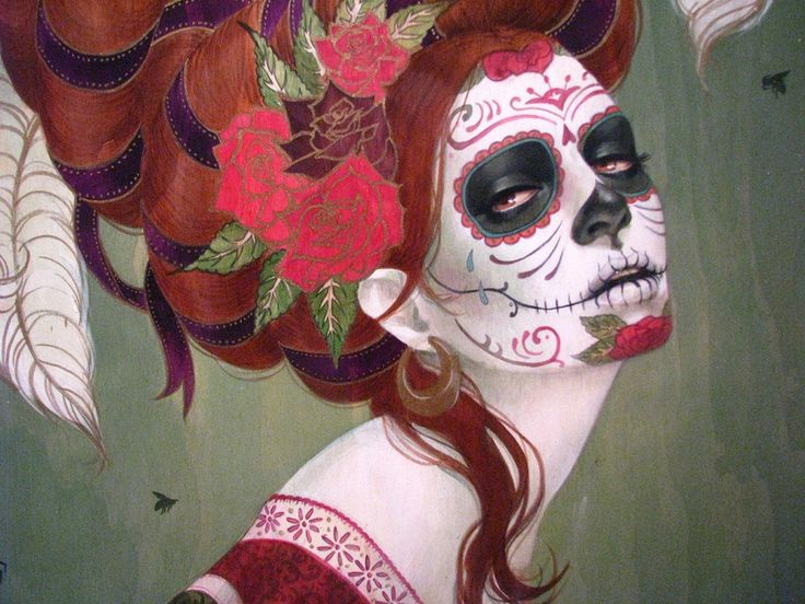 Day of the Dead Art: A Gallery of Colorful Skull Art Celebrating ...
