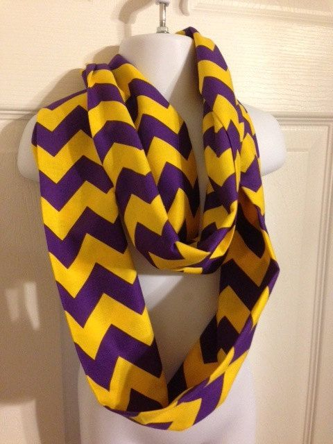 Football Accessories Infinity Scarf LSU Game by KellyEllisDesigns, This can be WIU too. ;-)