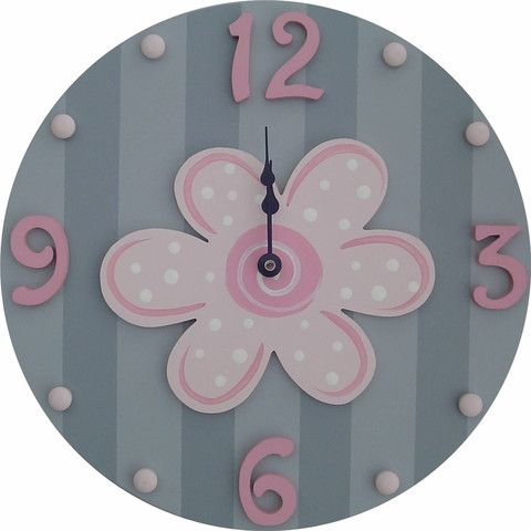 Pink Flower Wall Clock | Jack and Jill Boutique