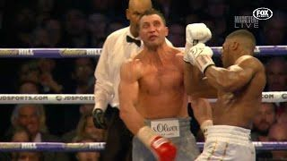 Anthony Joshua almost kills Klitschko with Brutal Uppercut  AJ v Wladimir Klitschko