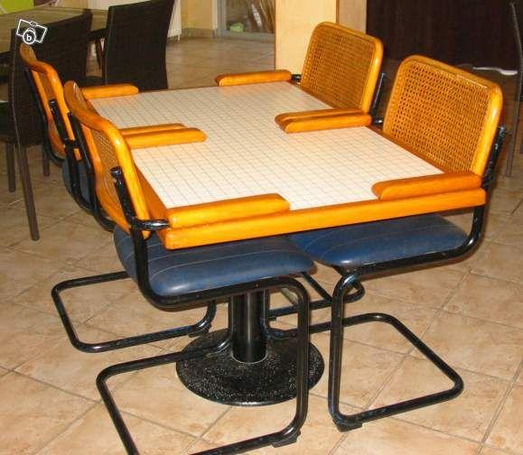 Table + chaises à accoudoirs Ameublement Isère - leboncoin.fr 0660934767 tricia38 - Mise en ligne le 26 janvier à 19:55. Prix : 30 € Ville : Coublevie Code postal : 38500   Table + chaises à accoudoirs Produit professionnel de restaurant Table très lourde, pied en fonte Table et chaises en très bon état, même si l'assise des chaises est à refaire (facilement) La table + 4 chaises : 30 euros D'autres chaises identiques à vendre pour 5 euros pièce Pas d'envoi pour ce produit