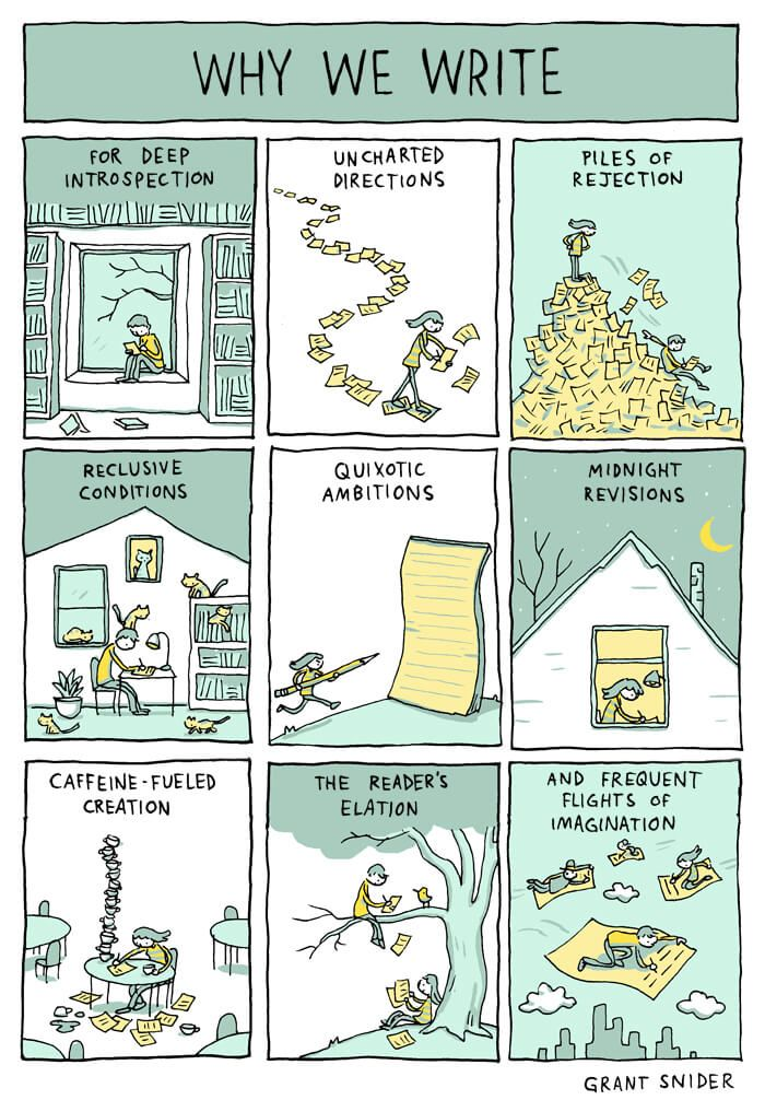 Why Do Writers Write? [COMIC] - https://magazine.dashburst.com/why-do-writers-write-comic/