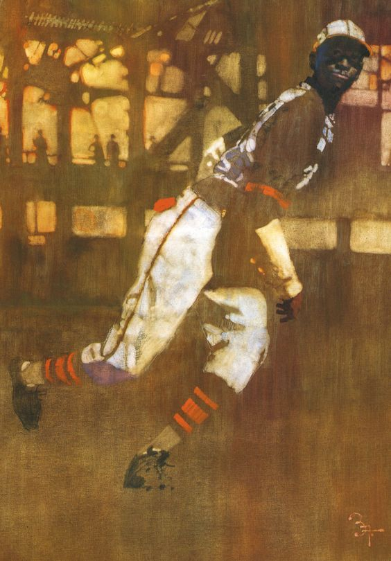 Bernie Fuchs, painting of Satchel Paige.
