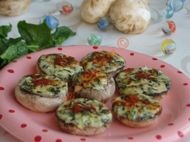 Ispanaklı Mantar Dolması Resimli Tarifi - Yemek Tarifleri