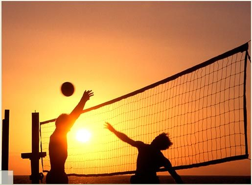 I love playing volleyball.