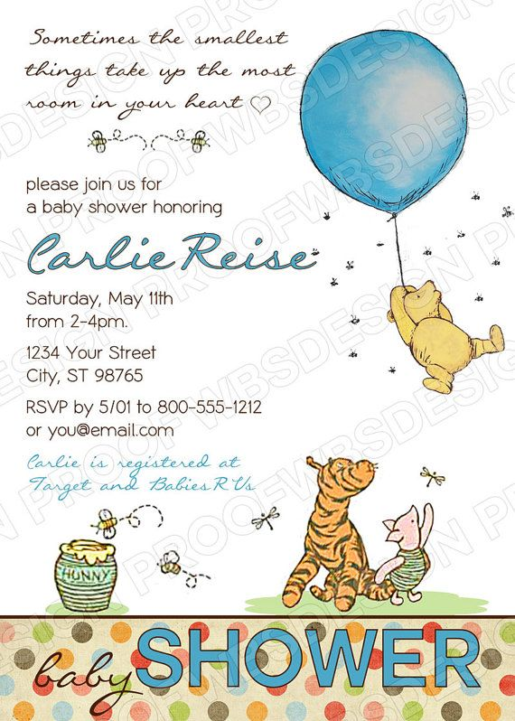 116 best images about Winnie the Pooh Baby Shower Ideas – Winnie the Pooh Party Invitations