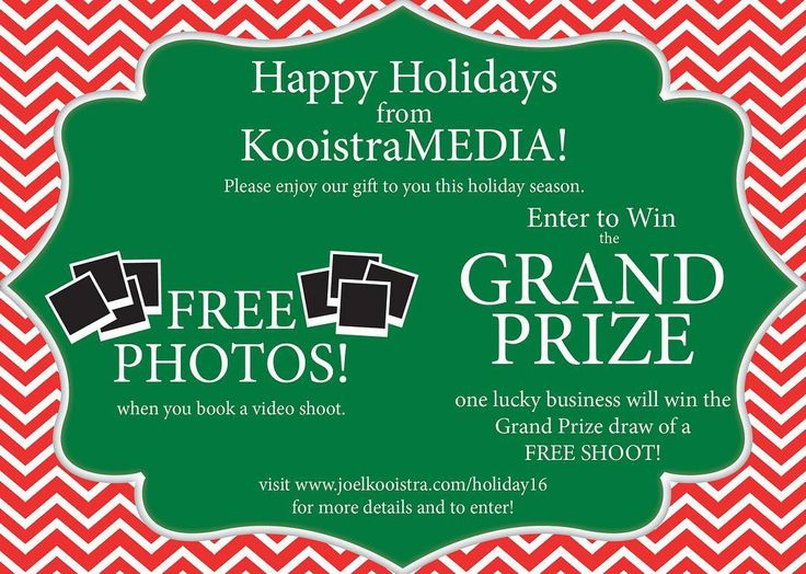 I'm happy to announce our Holiday giveaway and promotion. Follow the link on our profile to enter the giveaway!