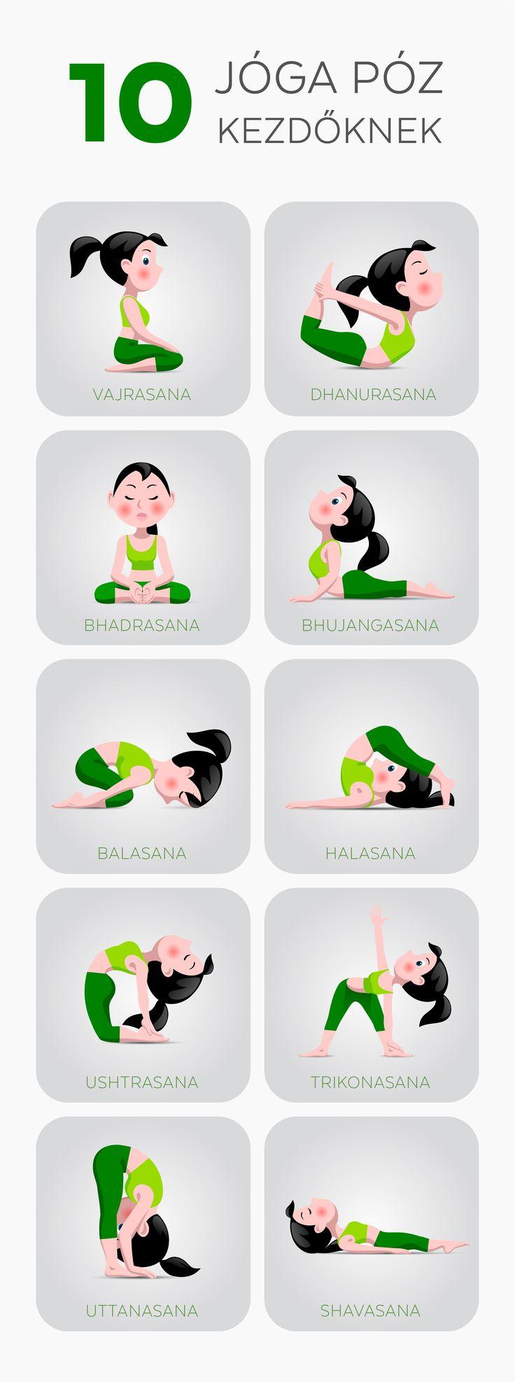 10 jóga póz kezdőknek!