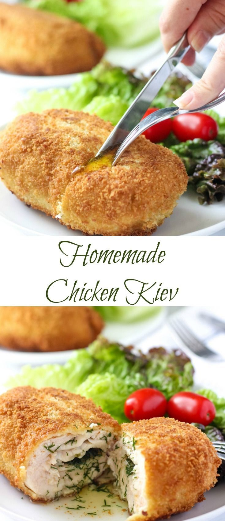 This Chicken Kiev Recipe is a BOMB. Follow my EASY step-by-step instructions to get the best AUTHENTIC Chicken Kiev. It's so good, you'll be making it again! #chickendinner #chickenrecipes