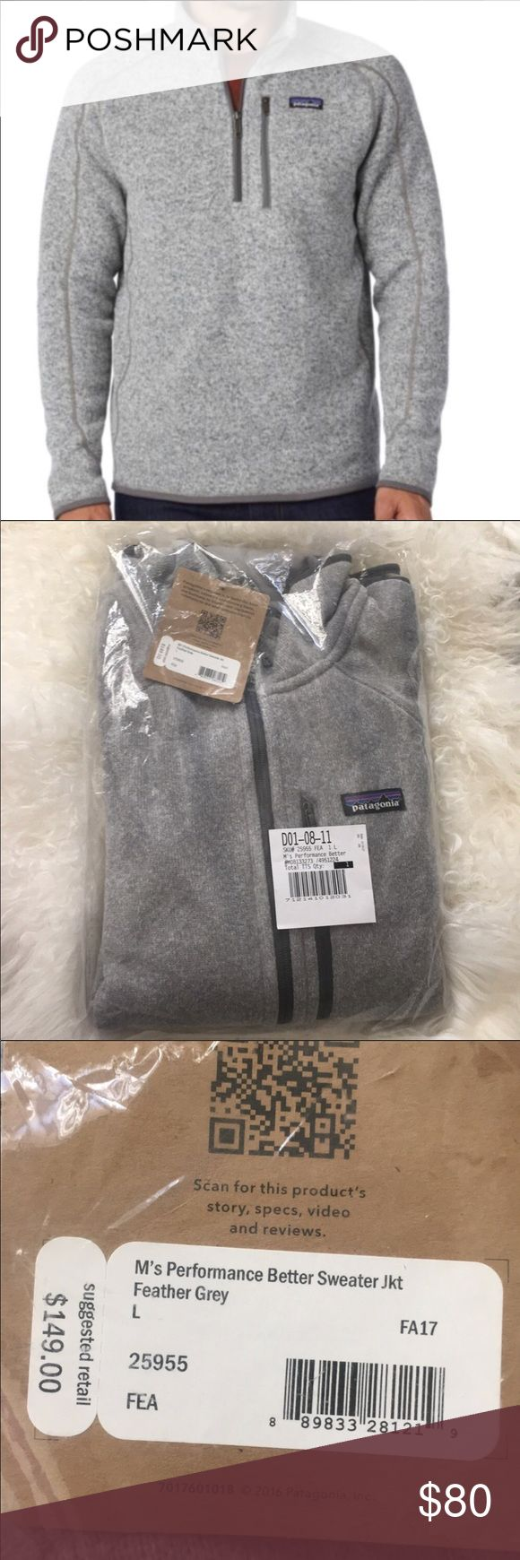 "Patagonia Sweater Brand new. 3/4 zip up. Mens large. ""Better Sweater Jacket"" in heather grey Patagonia Jackets & Coats Performance Jackets"