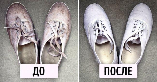 Этот простой трюк сделает ваши кеды идеально белыми