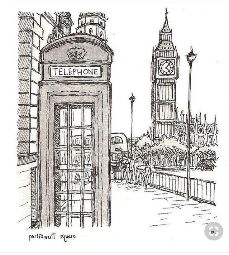 Картинки лондона нарисовать