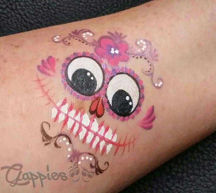 Sugar skull Gappie painted by Schminkkoppies