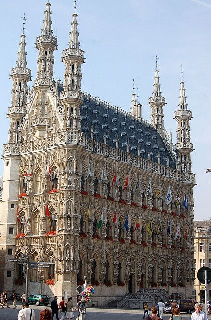 El Ayuntamiento de Lovaina, Bélgica