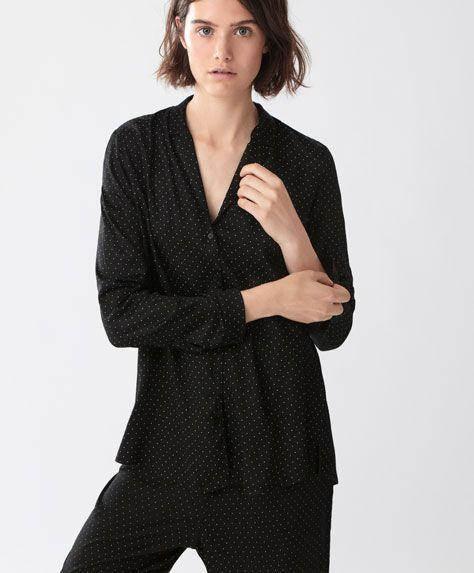 Camisa topos - null - Rebajas de Invierno en moda de mujer en Oysho online: ropa interior, lencería, ropa deportiva, pijamas, bodies, camisones, complementos, zapatos y accesorios.