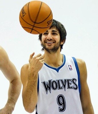 Ricky Rubio. Love the way he dishes the basketball!