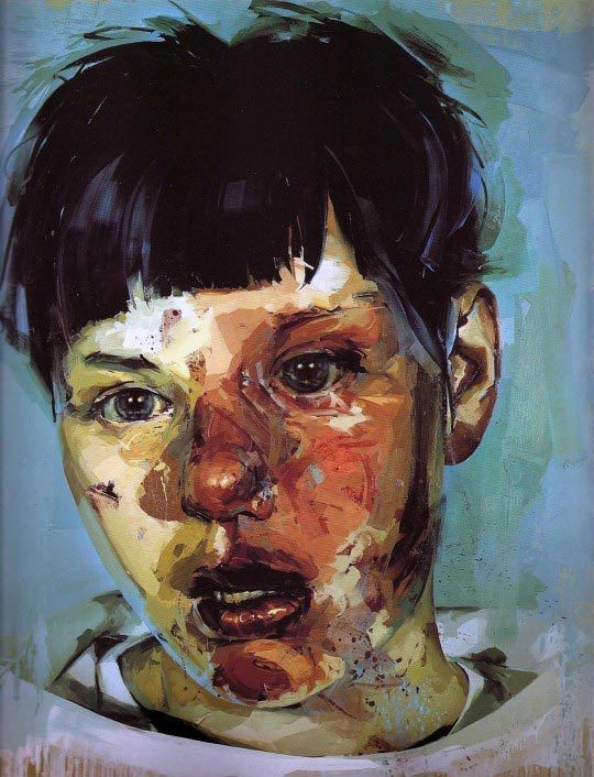 Jenny Saville, Red Stare Head IV, 2006-2011, Oil on canvas, 252 x 187.5 cm @ Courtesy Gagosian Gallery