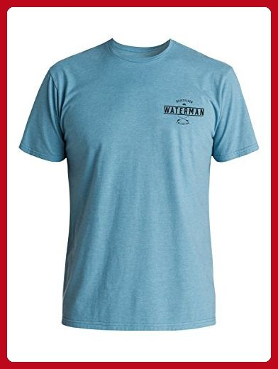 Quiksilver Waterman Men's Hatteras Tee Shirt, Niagara Heather, M - Mens world (*Amazon Partner-Link)