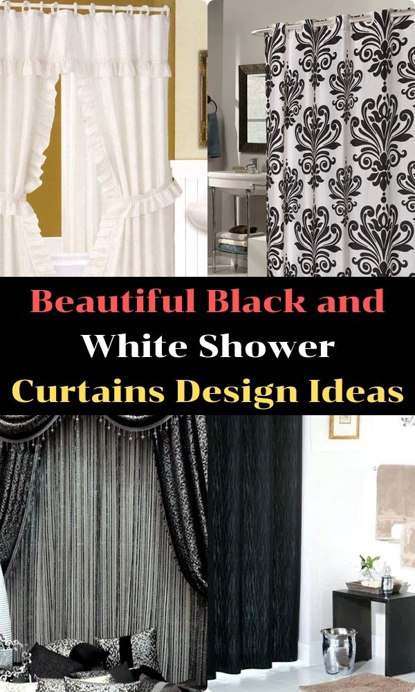 Beautiful Black And White Shower Curtains Design Ideas White Shower Curtain Designer Shower Curtains White Shower