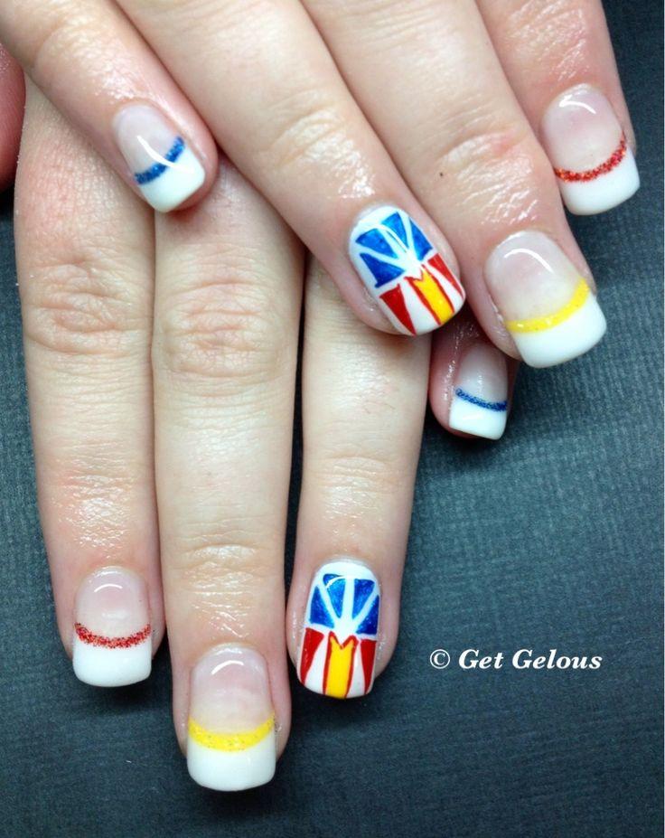 Newfoundland flag nails