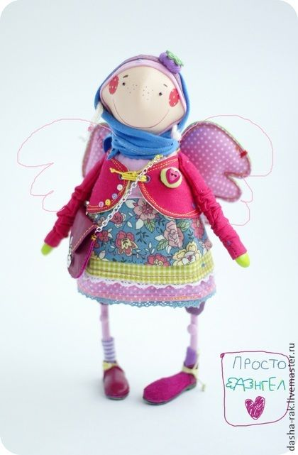 Коллекционные куклы ручной работы. Ярмарка Мастеров - ручная работа Алина-Малина ангел нежный. Handmade.