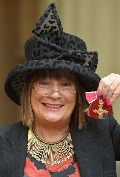 Hilary Alexander Fashion journalist Hilary Alexander holds her Officer of the Order of the British Empire (OBE) medal, after it was presente...