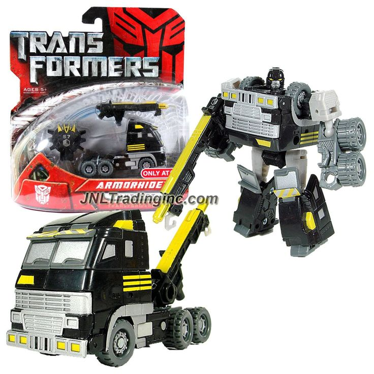 "Hasbro Transformers 1st Movie All Spark Power Series Scout Class 4-1/2"" Tall Figure - ARMORHIDE with Hook Rifle & Cyber Key (Vehicle Mode: Tow Truck)"
