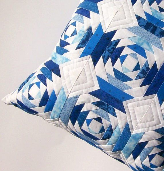 Blue pineapple quilt block pillow (on Etsy, but sold)