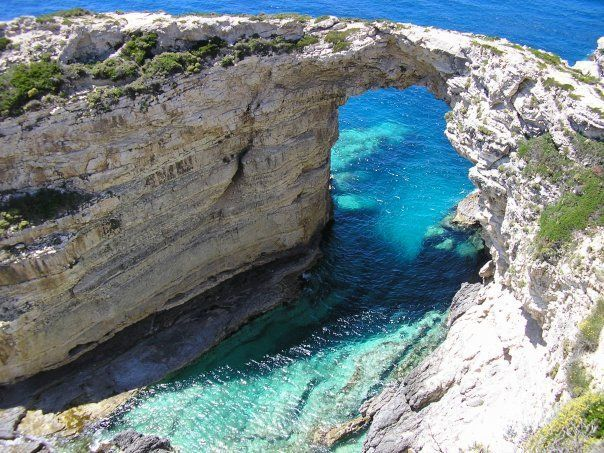 Paxos, Tripitos Arch, Greece