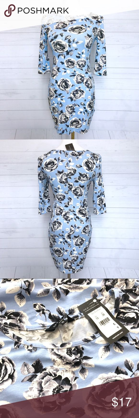 """New Look Bodycon Dress NWT. 🇬🇧 Brand. UK Size 10. Lay Flat Measurement; pit to pit-16"""". Waist-13"""". Length Approx-31"""". Sleeve-15"""". Stretchy. No Trades. No low ball offers New Look Dresses Mini"""