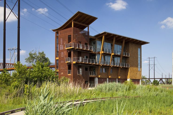 Built by GWWO Architects in Wilmington, United States with date 2009. Images by Robert Creamer. The new DuPont Environmental Education Center is part of efforts to restore marshlands along the Christina River in W...