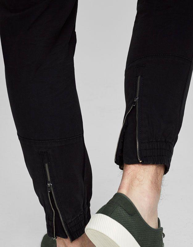 Pantalón cargo puños - Pantalones - Ropa - Hombre - PULL&BEAR Ecuador