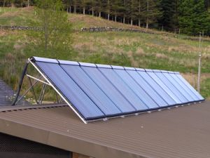 Large Solar thermal system at the Eco Yoga Centre in Argyll, installed by our parent company Raine or Shine Ltd