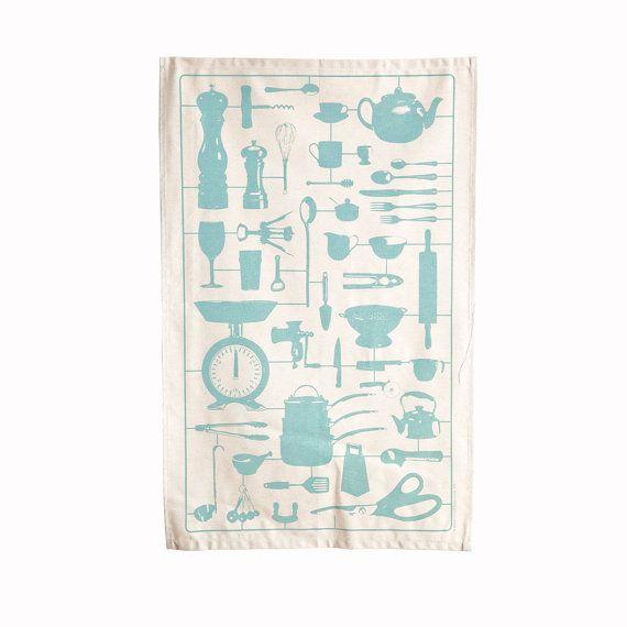Airfix Kitchen Dish Cloth Tea Towel by victoriaeggs on Etsy, $14.95