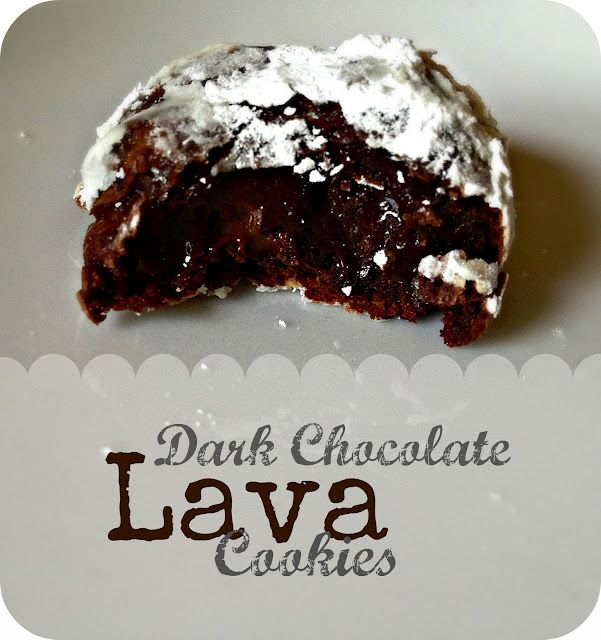 Dark Chocolate Lava Cookies So what is there to say about these cookies except that they may be one of the most unique cookies I've made to date. Truly. First, they're flourless. And butterless. HUH?! I know. How in the world could they be even remotely good? Well they done one better than that. They were PHENOMENAL!