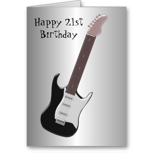 22 best 21st birthday cards images on pinterest 21st birthday guitar 21st birthday card m4hsunfo