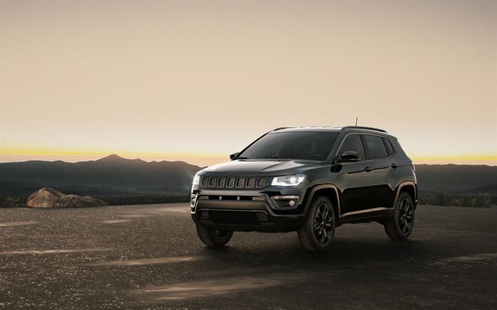 Download Wallpapers Jeep Compass 4k 2017 Cars Suvs Night Eagle