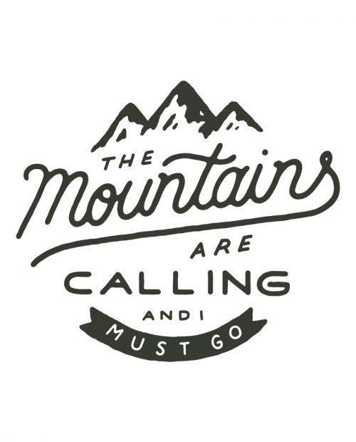 Mountains Are Calling Baseball Raglan