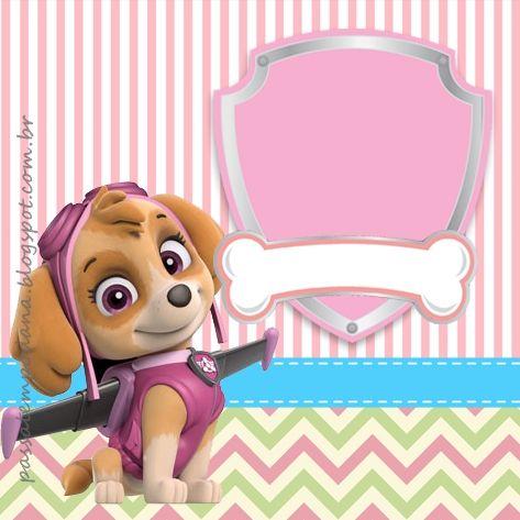 Divertida tarjeta para fiesta de cumpleaños de la Patrulla Canina. #invitaciones #PatrullaCanina