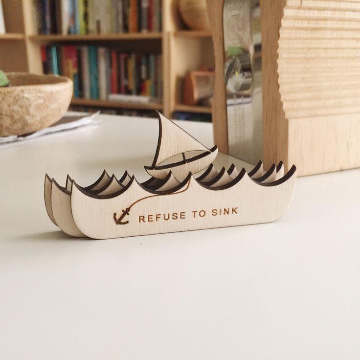 refuse to sink inspirational desk accessory | desk accessories