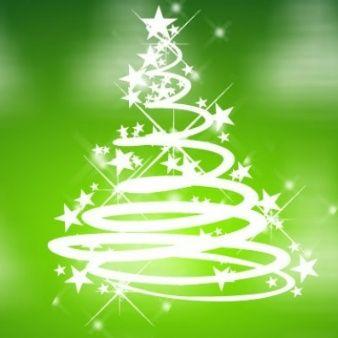 Enfriar Navidad Vector Verde